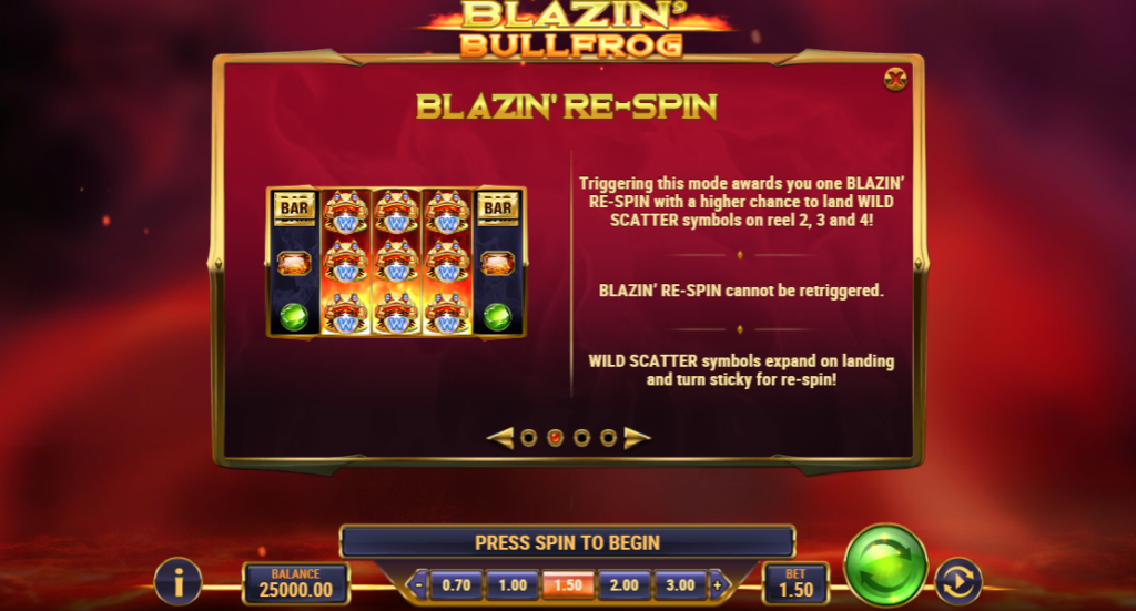 Blazing frog re-spin