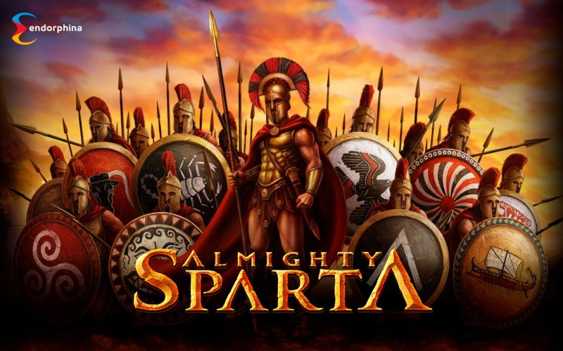 Almighty Sparta slot logo by Endorphina