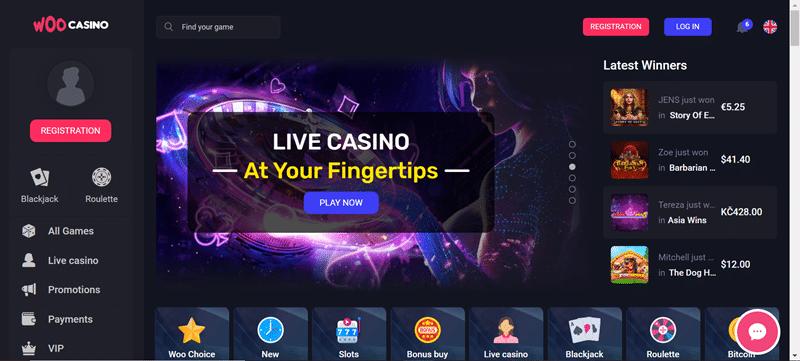 Woo casino lobby