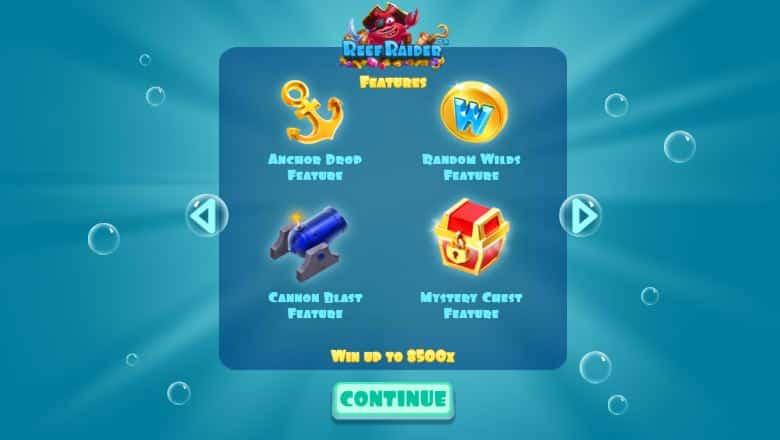 Reef Raider slot features