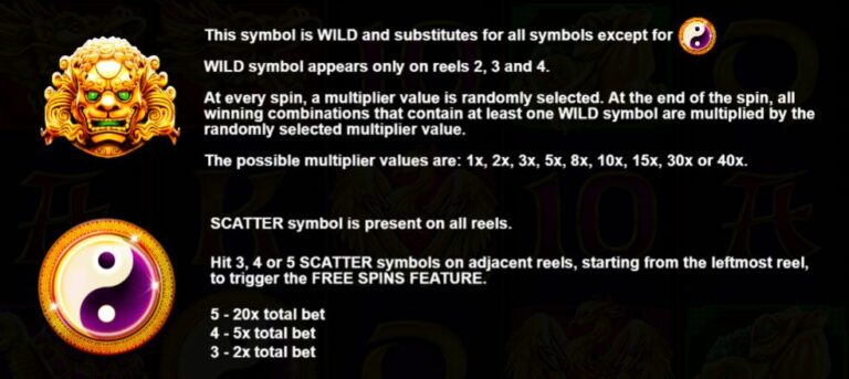 Wild and scatter symbol explanation