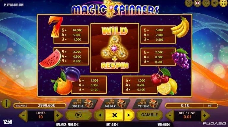 Magic spinners slot