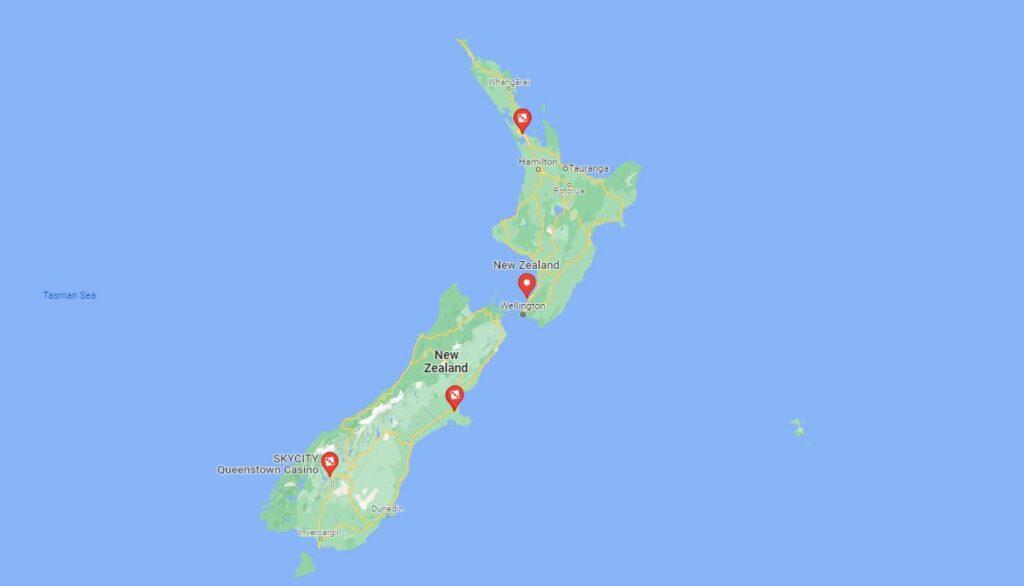 all NZ landbased casinos